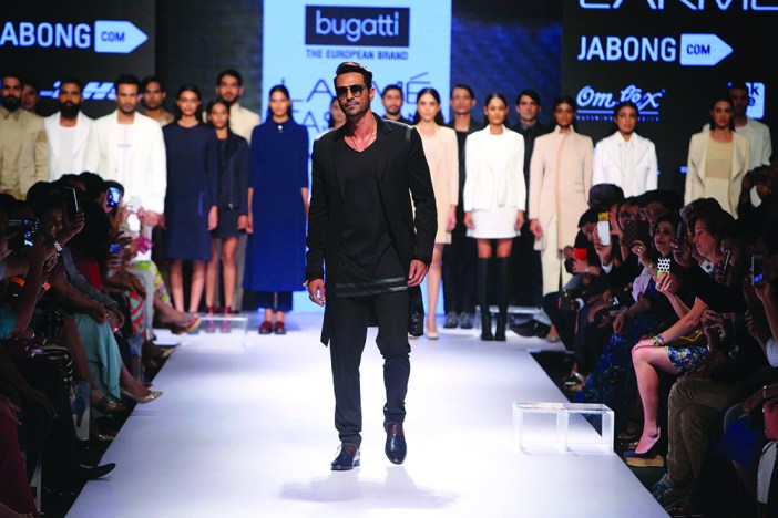 Bollywood Actor Arjun Rampal at Bugatti Shoes Launch for Jabong.com at Lakme Fashion Week in Aug, 2015