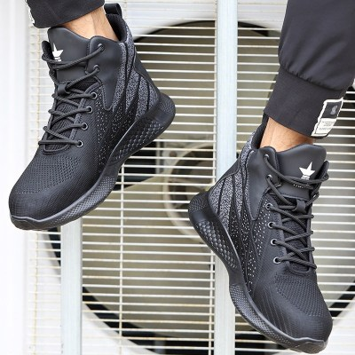 SUADEEX Work Boots Safety Steel Toe Shoes Men Breathable Sneakers Shoes Ankle Hiking Boots Anti-Piercing Protective Footwear 10