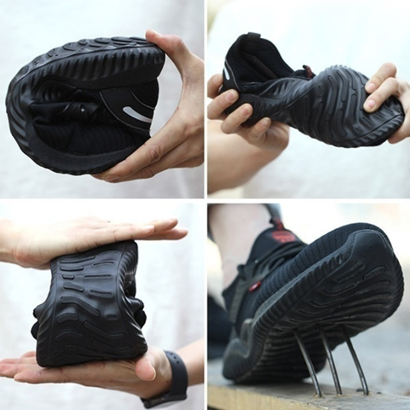 Indestructible Shoes Men Safety Work Shoes with Steel Toe Cap Puncture-Proof Boots Lightweight Breathable Sneakers Dropshipping 5