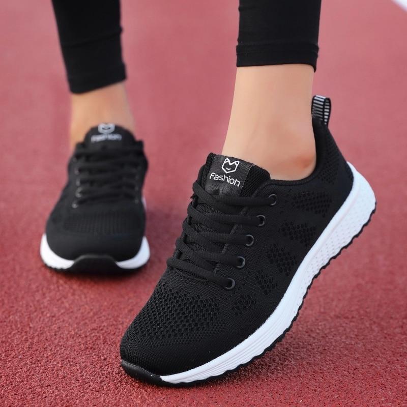 Flat Lace-Up Mesh Light Breathable Women Shoes  3