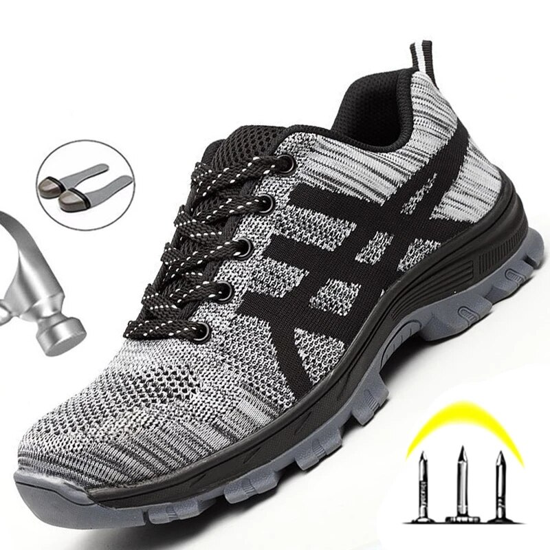 Work Sneakers Men Indestructible Steel Toe Work Shoes Safety Boot Men Shoes Anti-puncture Working Shoes For Men Dropshipping 2