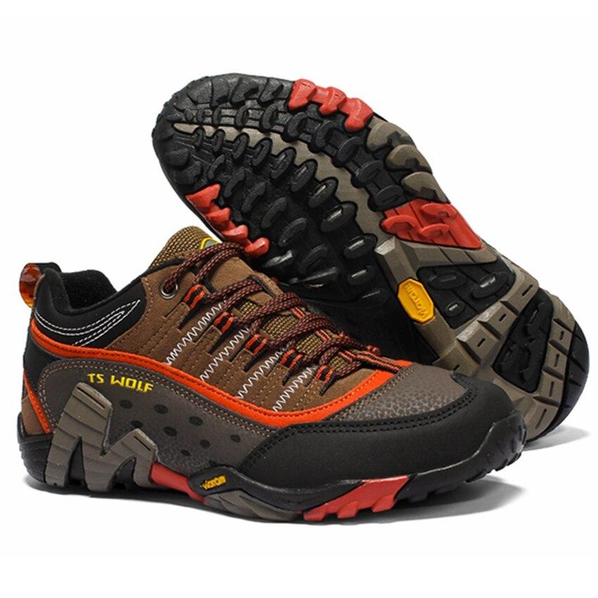 Women Genuine Leather Hiking Shoes Waterproof Non-slip Ladies Camping Travel Sport Climbing Shoes Mountain Trekking Sneakers 5