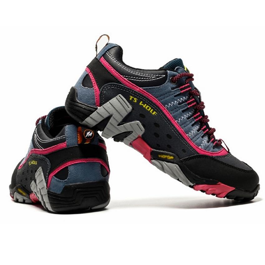 Women Genuine Leather Hiking Shoes Waterproof Non-slip Ladies Camping Travel Sport Climbing Shoes Mountain Trekking Sneakers 1