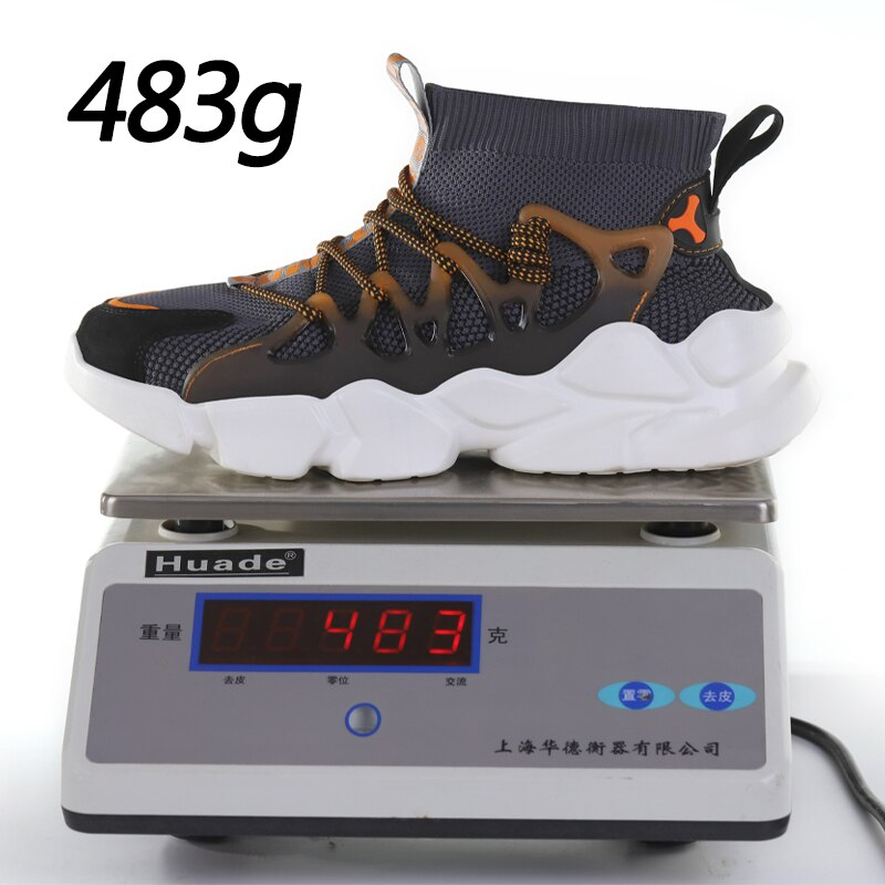 New Safety Shoes Men Indestructible Sneakers Socks Shoes Work Boots Puncture Proof Work Sneakers Safety Boots Steel Toe Shoes 4
