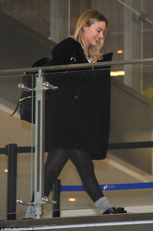 Margot Robbie Displays Retro Cool Airport Style  Shoes Post