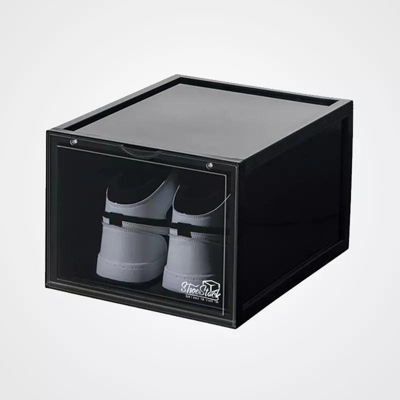 drop front shoe box black large