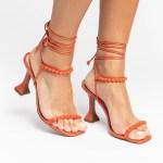 Sandália Feminina salto taça verão 2021 laranja amarrações aplicações shoes to love loja online calçados femininos tendencias (20)