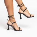 Sandália Feminina salto taça verão 2021 preta balck aplicações shoes to love loja online calçados femininos tendencias (21)