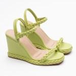 sandalia Feminina anabela plataforma flatform verão 2021 avocado abacate verde detalhes em trança shoes to love loja online calçados femininos tendencias (8)