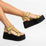 sandalia Feminina anabela plataforma flatform verão 2021 solado preto cabedal gorgurão amarelo shoes to love loja online calçados femininos tendencias (75)