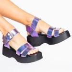 sandalia verão 2021 flatform metalizada futa-cor roxa azul shoes to love loja online calçados femininos tendencias (2)