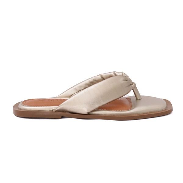 loja-de-calçados-feminino-on-line-verão-21-flat-homewear-sandalias-rasteiras-champagne-metalizado
