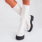 bota feminina strecth off white estilo meia, com ziper na lateral parte interna loja on line2