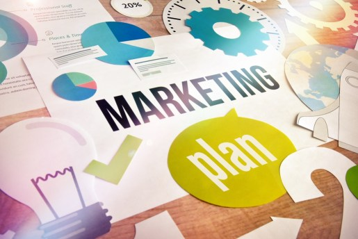 Marketing plan graphic.