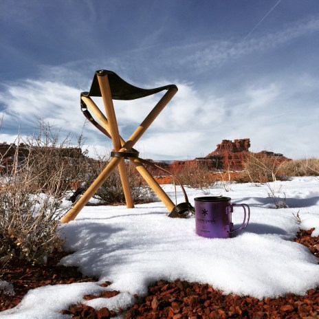 Stool and coffee monument valley