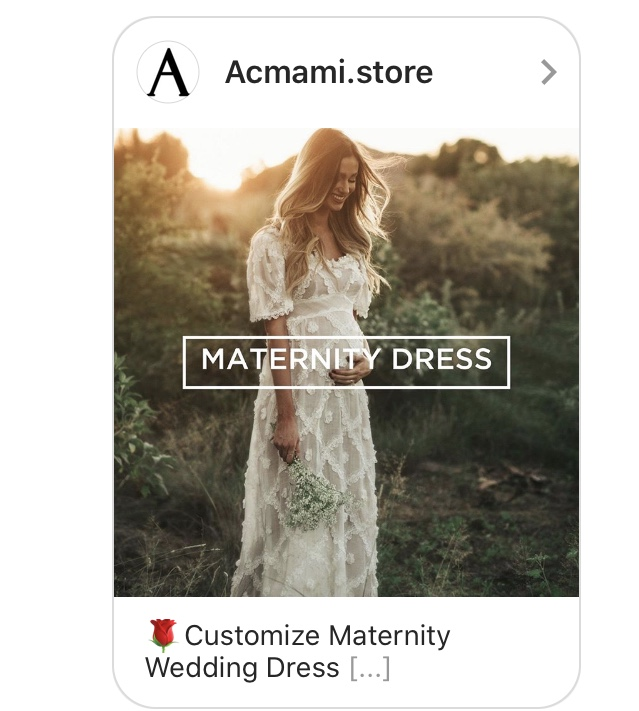 instagram pregnancy ad maternity wedding dress