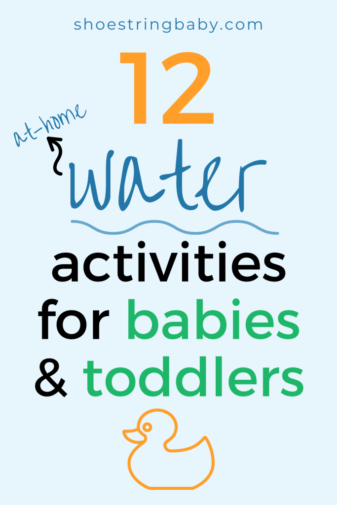12 at-home summer water activities for babies and toddlers.