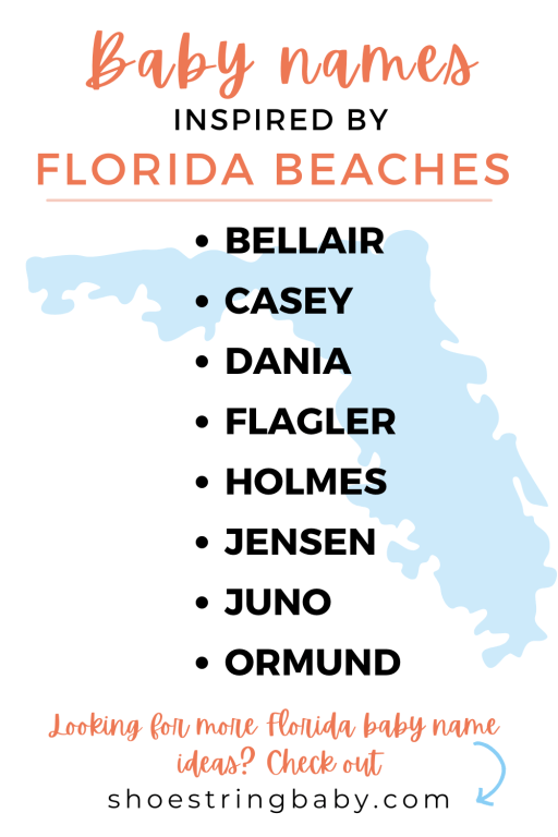 Baby names inspired by beaches