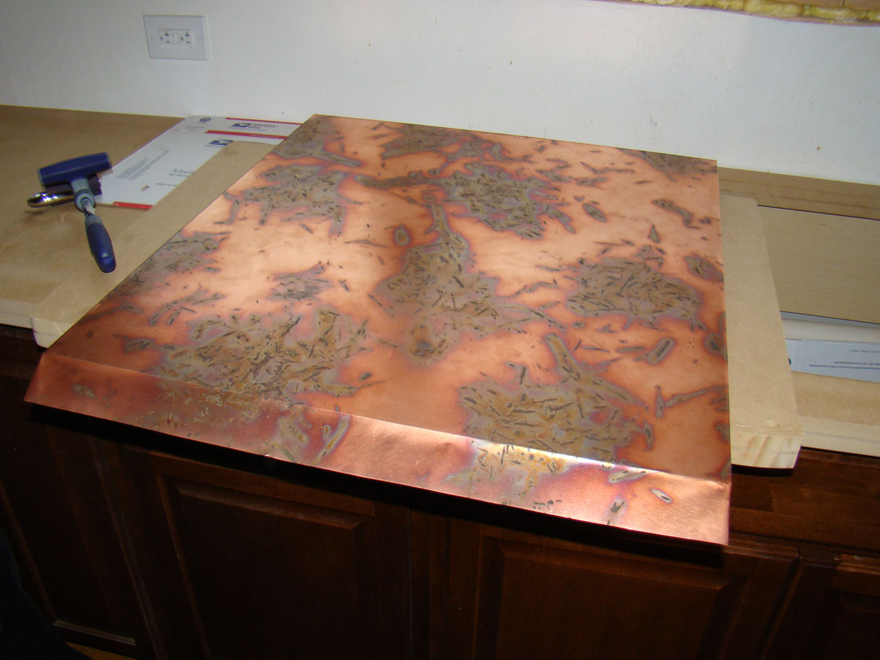 copper kitchen countertops small rectangular table the and diy