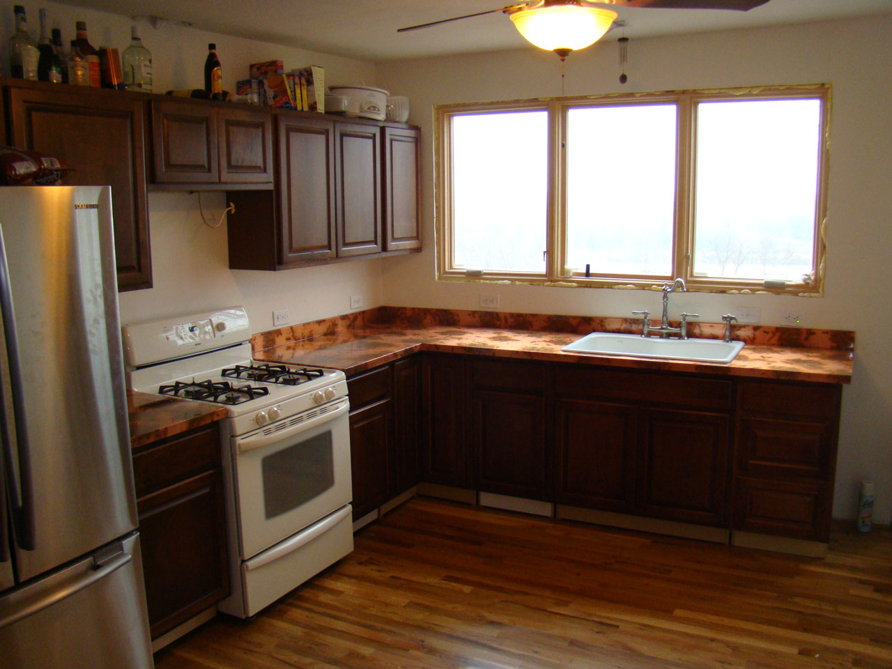 copper kitchen countertops formica cabinets the and diy