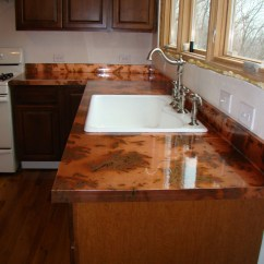 Copper Kitchen Countertops Stone Backsplash For The And Diy