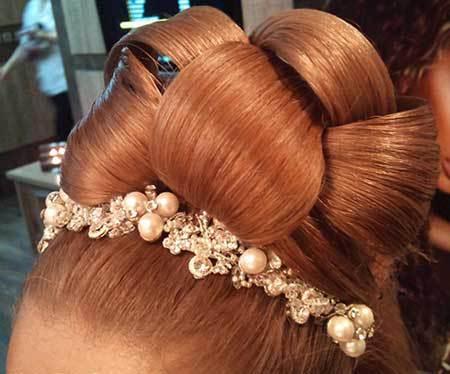pic 1445856121 740 صور تسريحات شعر وميك اب 2016 , اجمل تسريحات للشعر المرفوع
