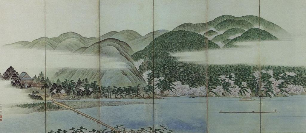 Folding Screen of Arashiyama Hara Zaichū