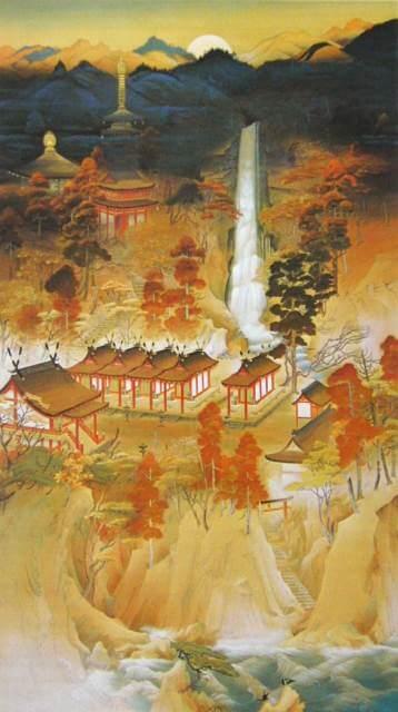 "Nachi Mountain in Mikumano"" by Yamaguchi Hōshun"
