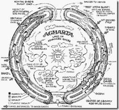地球空洞説図