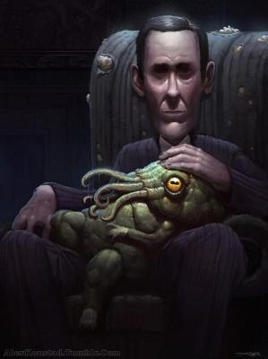 Lovecraft and friend