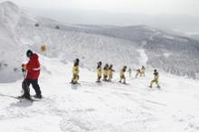 冬期野外活動でのスキー合宿