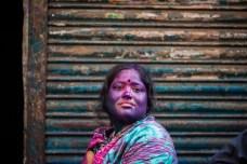 A Hindu woman during Holi festival last year in Dhaka, Bangladesh.