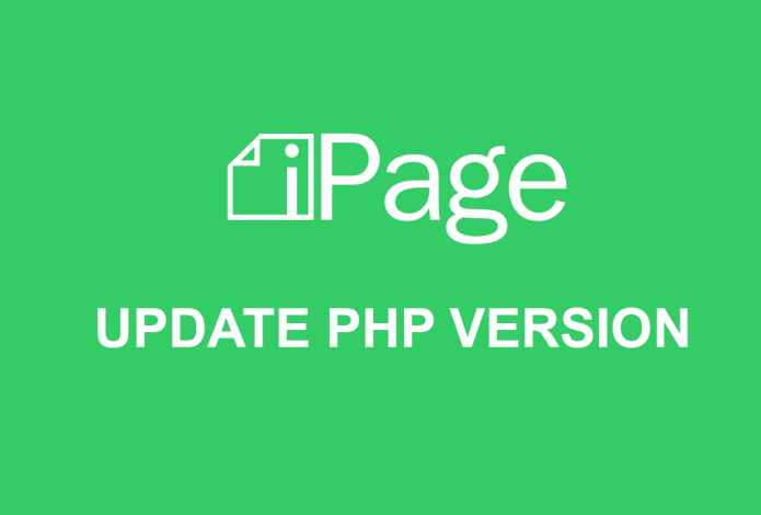 How to update php version from ipage hosting