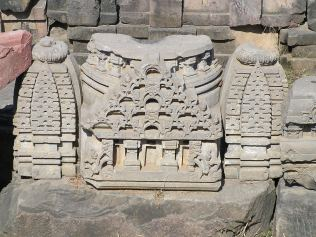 small scale facade of the temple