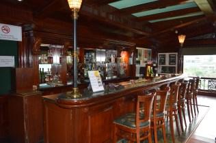 A very English bar set up