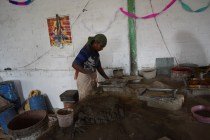 Cement and sand finish the process of packing