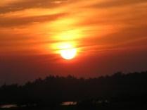 beautiful golden sun