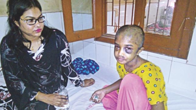 Torturing child domestic worker