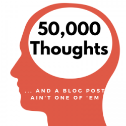 graphic of 50,000 thoughts in the brain