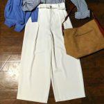 これはおススメ!【ユニクロのドレープワイドアンクルパンツ】50代おしゃれミニマリストの着まわし