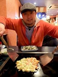 花味@善行:テーブルでお好み焼き・鉄板焼き・もんじゃ焼き
