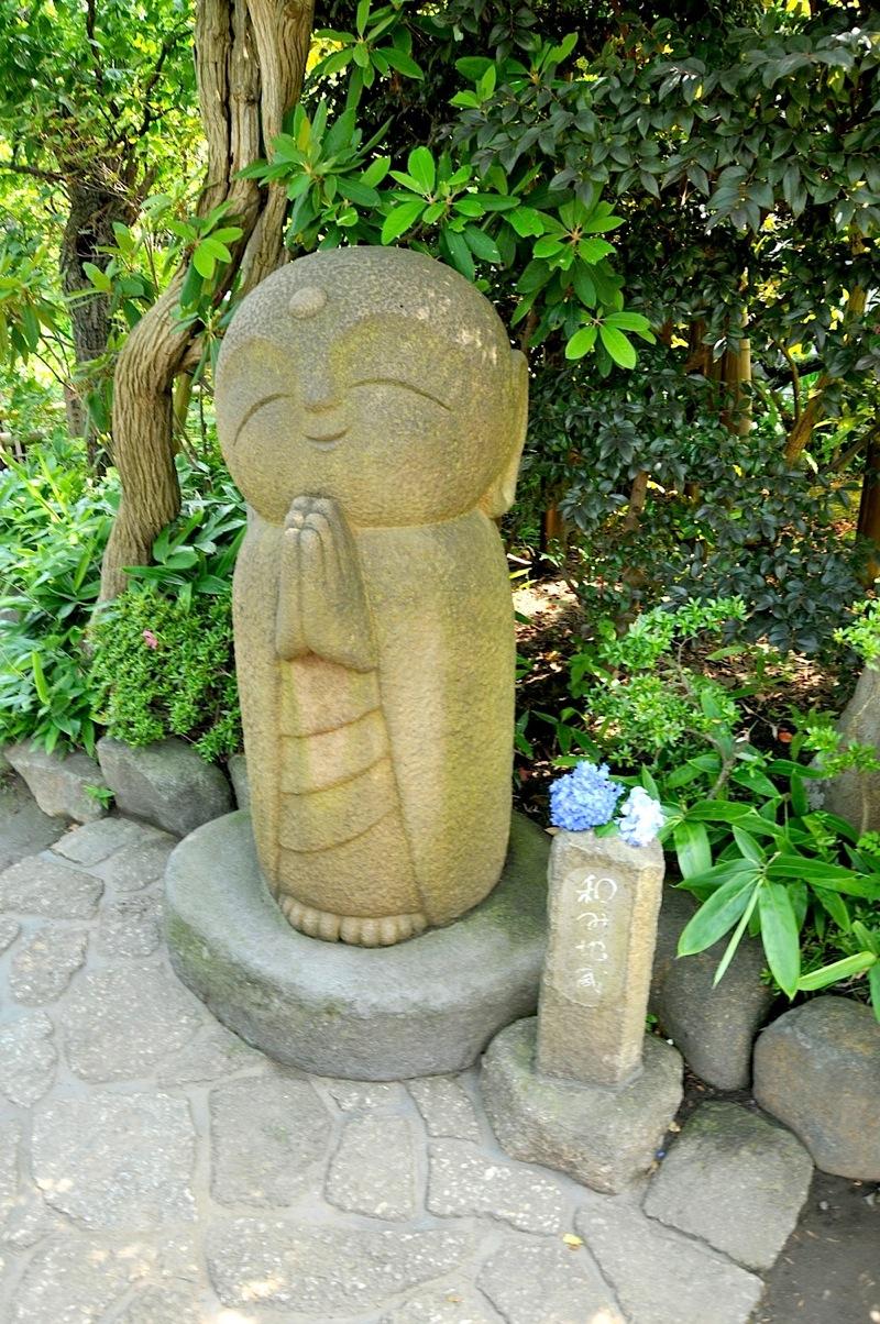 鎌倉の紫陽花(アジサイ)チェック2015:長谷寺の和み地蔵