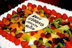 江ノ島片瀬海岸のケーキ&洋菓子おかしの家チロルのウェディングケーキ