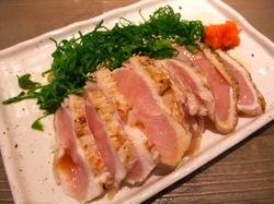 藤沢塚田農場の地頭鶏たたきネギまみれ