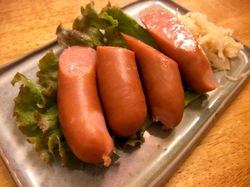 藤沢本町の創作沖縄料理「島結」のあぐー豚ソーセージ