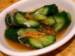 藤沢の韓国焼き肉料理湘南肉豚屋のきゅうりのキムチ
