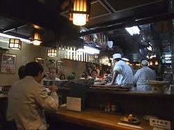 藤沢の老舗居酒屋久昇の店内