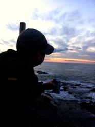江ノ島裏磯で初日の出待ち