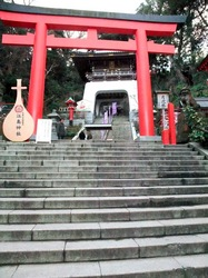 江島神社辺津宮の鳥居