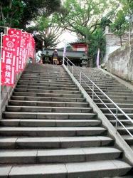 江島神社辺津宮への階段